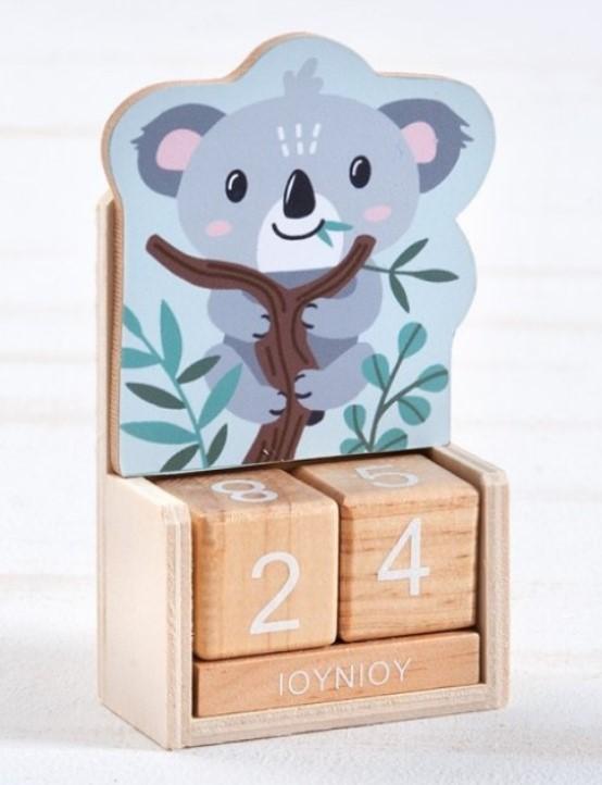 Ξύλινο Ημερολόγιο Koala ΜΠΟΜΠΟΝΙΕΡΑ ΒΑΠΤΙΣΗΣ