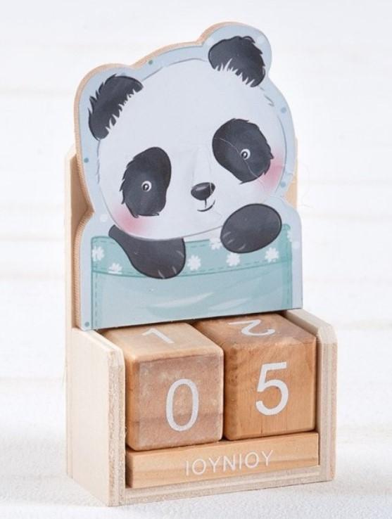 Ξύλινο Ημερολόγιο Panda ΜΠΟΜΠΟΝΙΕΡΑ ΒΑΠΤΙΣΗΣ