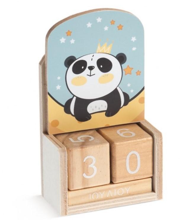 Ξύλινο Ημερολόγιο Panda ΜΠΟΜΠΟΝΙΕΡΑ ΒΑΠΤΙΣΗΣ 2019