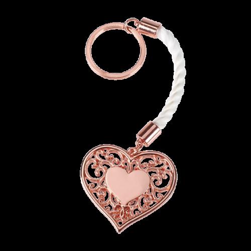 Μπομπονιέρα Γάμου-Βάπτισης Vintage Καρδιά Μπρελόκ